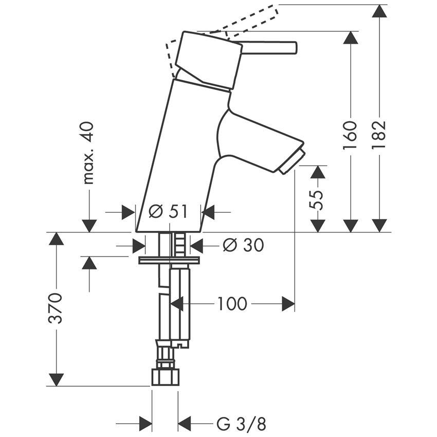 Jednouchwytowa bateria umywalkowa bez kpl. odpływowego Hansgrohe Talis S