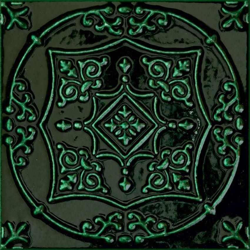 Dekor ścienny 7 różnych wzorów pakowanych losowo 14,8x14,8 cm Tubądzin Tinta Green