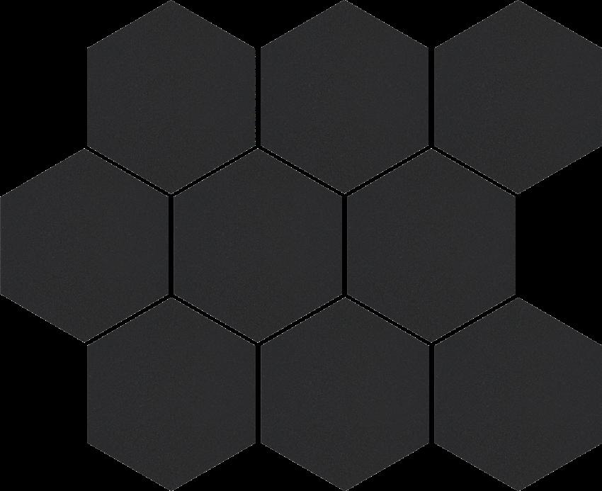Mozaika uniwersalna 27,53x33,4 cm Cerrad Mozaika heksagon Cambia black lappato