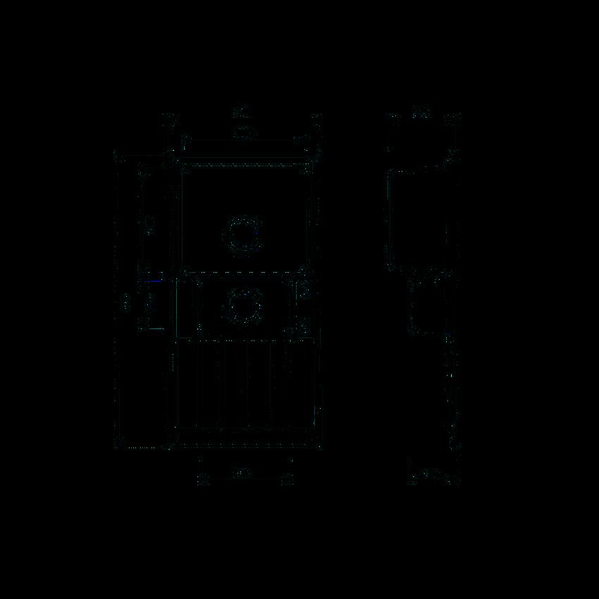Zlewozmywak 1,5-komorowy z ociekaczem Deante Avior rysunek techniczny