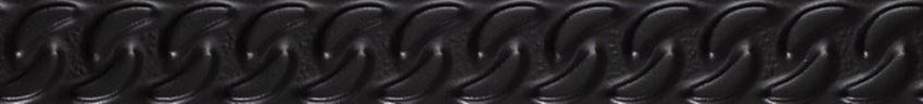 Listwa ścienna 4,5x39,8 cm Paradyż Fashion Spirit Black Listwa Struktura Mat