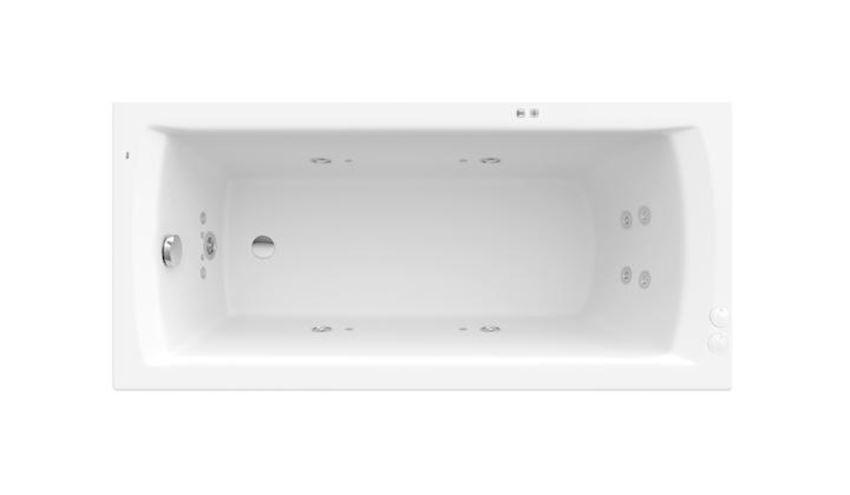 Prostokątna wanna akrylowa XL z hydromasażem Smart Water Plus Roca Linea