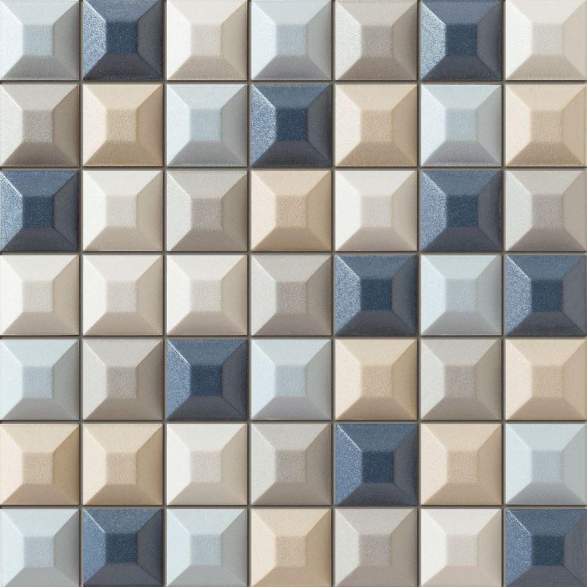 Mozaika ścienna 31,4x31,4 cm Tubądzin Elementary blue