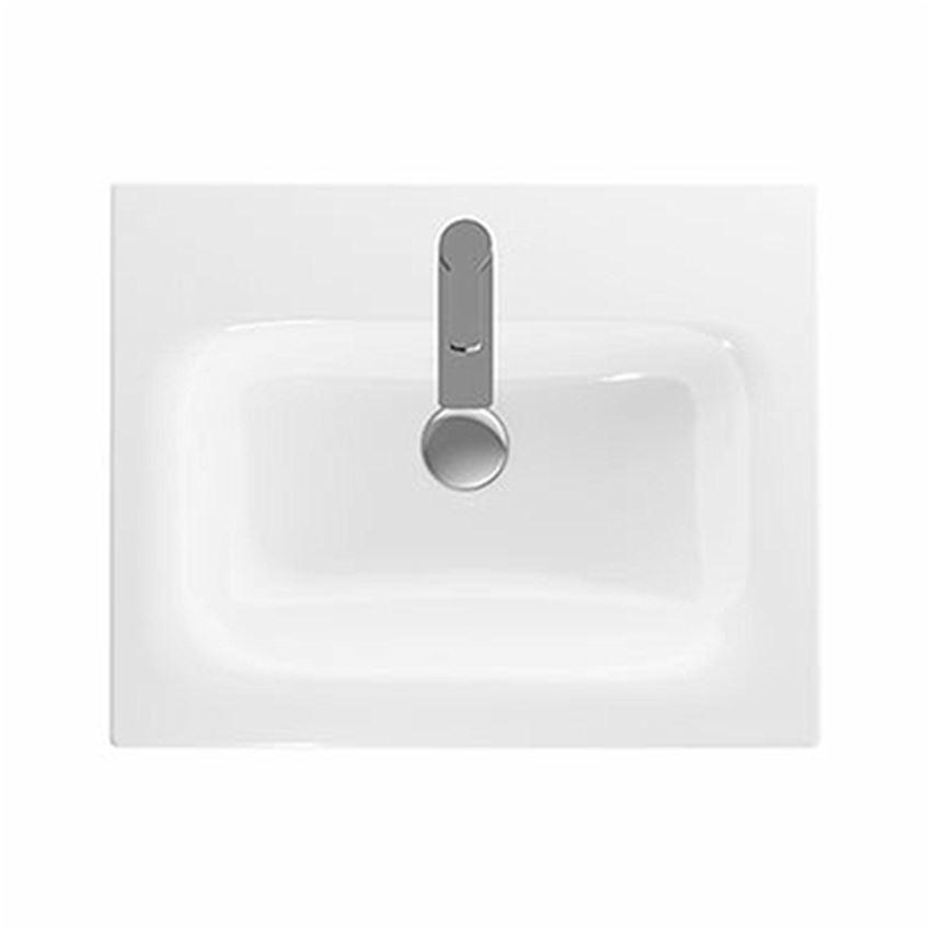 Umywalka meblowa 60 cm z niskim rantem z otworem i przelewem Koło Nova Pro Premium