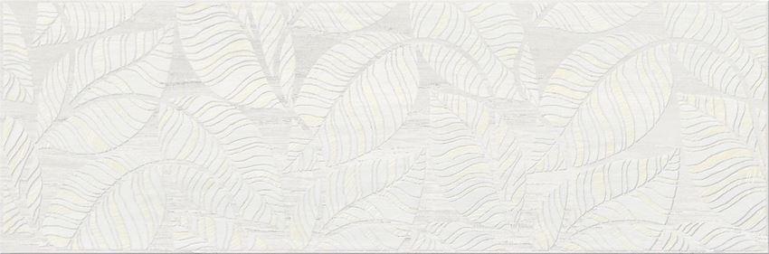Płytka dekoracyjna 19,8x59,8 cm Cersanit Livi cream inserto leaves