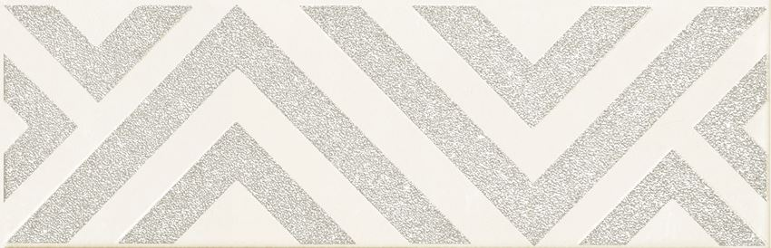 Dekor ścienny 23,7x7,8 cm Domino Burano bar white C