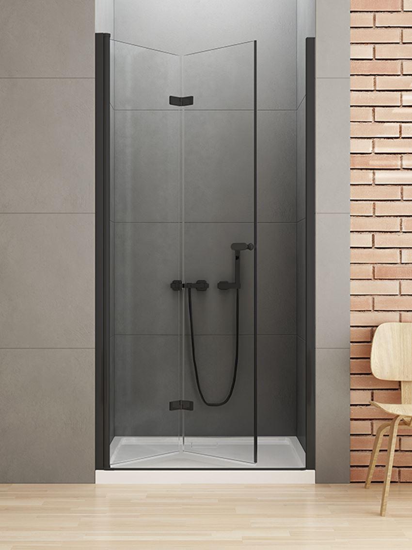 Drzwi prysznicowe składane New Trendy New Soleo Black