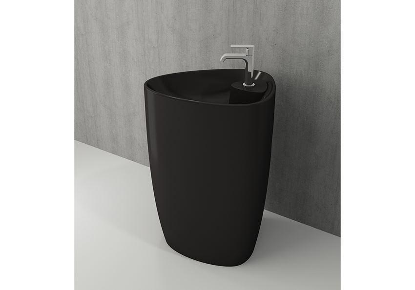 Umywalka monoblok Matt Black Bocchi Etna
