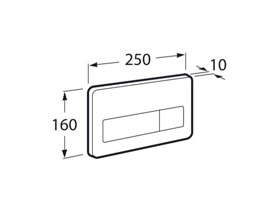 PL3 E - przycisk elektroniczny ANTYWANDAL Roca rysunek