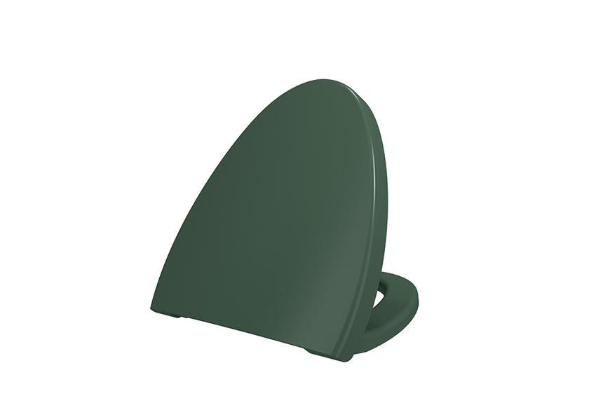 Deska WC duroplast wolnoopadająca Matte Green Bocchi Etna