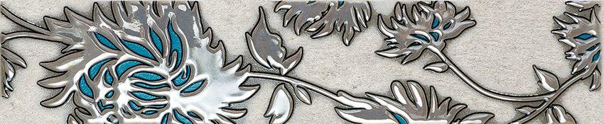 Listwa ścienna 36x7,4 cm Domino Gris flower turkus