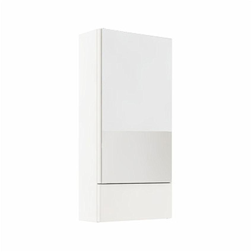 Szafka wisząca z lustrem 41,8x85x17,6 cm biały połysk Koło Nova Pro