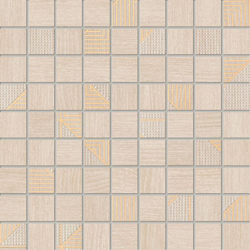 Mozaika ścienna 30x30 cm Domino Woodbrille beige