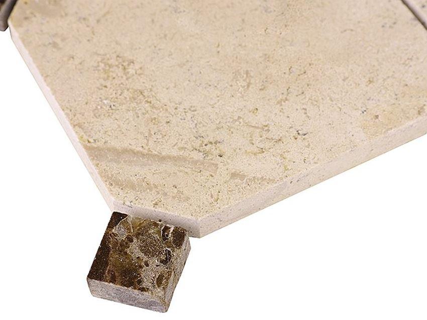 Mozaika 30,5x30,5 cm Dunin Travertine Octagon 100