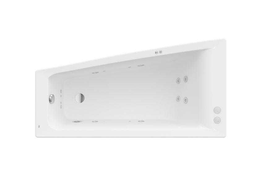 Asymetryczna narożna wanna z hydromasażem Smart Water Plus Lewa 150x80 cm Roca Easy