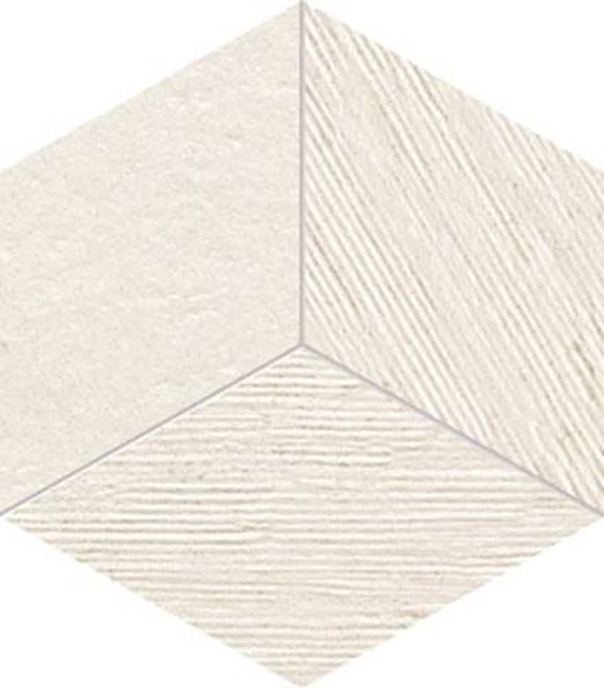 Mozaika ścienna 22,6x19,8 cm Tubądzin Balance ivory STR