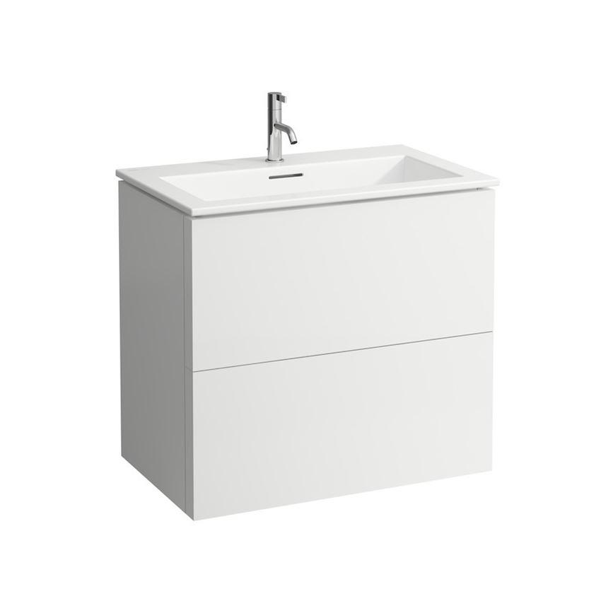 Zestaw umywalka slim z szafką 80 cm Laufen Kartell