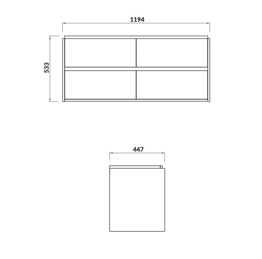 Szafka podumywalkowa 119,4x53,3x44,7 cm Cersanit Crea 120 rysunek