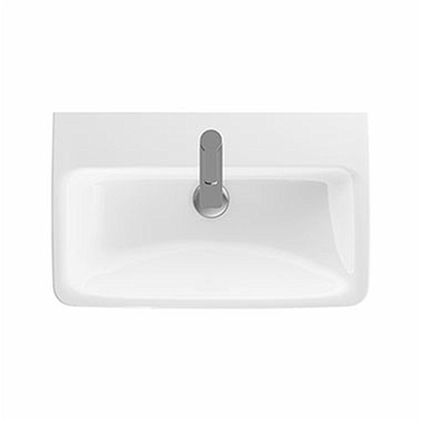 Umywalka prostokątna krótka z otworem bez przelewu 65 cm Koło Nova Pro