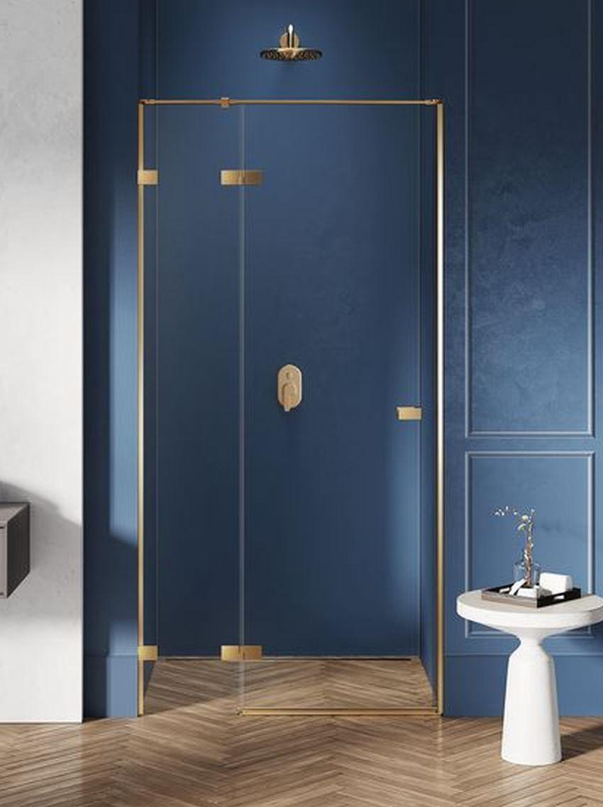 Drzwi prysznicowe lewe uchylne New Trendy Avexa Gold