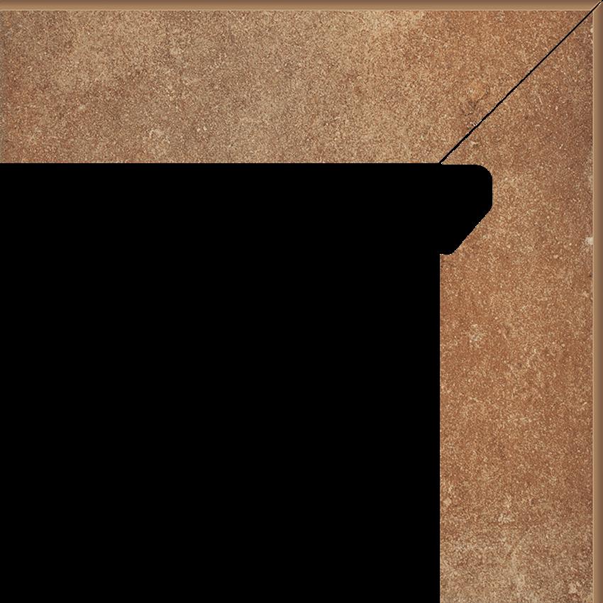 Płytka cokołowa 8,1x30 cm  Paradyż Scandiano Rosso Cokół 2 El.-Prawy