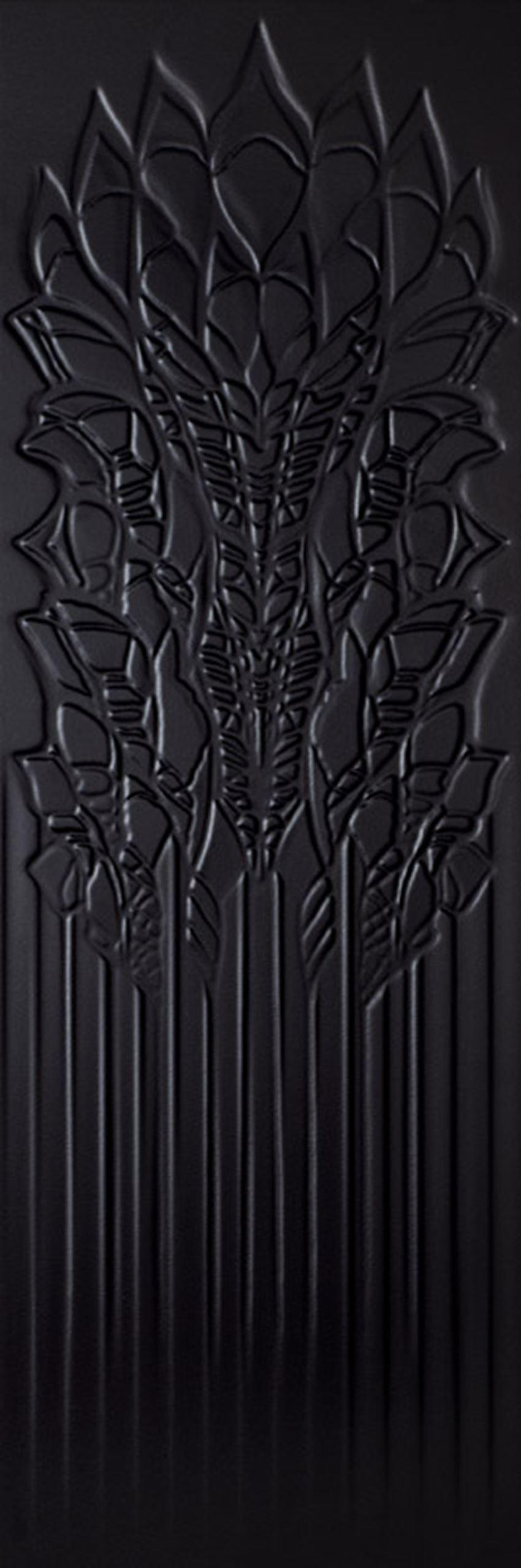 Płytka ścienna 39,8x119,8 cm Paradyż Cold Crown Black Ściana Struktura Rekt.