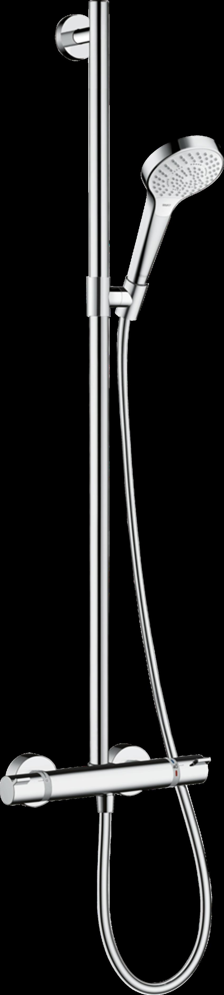 Komplet prysznicowy SemiPipe Multi z termostatem Hansgrohe Croma Select S