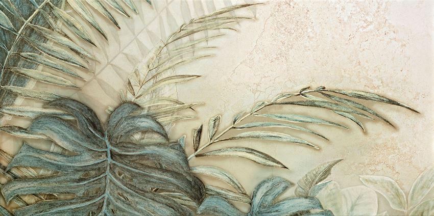 Obraz gresowy 59,8x119,8 cm Domino Alabaster Shine Element 2 leaves B