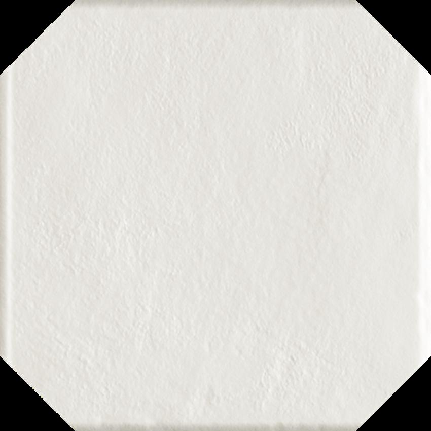 Płytka ścienno-podłogowa 19,8x19,8 cm Paradyż Modern Bianco Gres Szklany Struktura Octagon