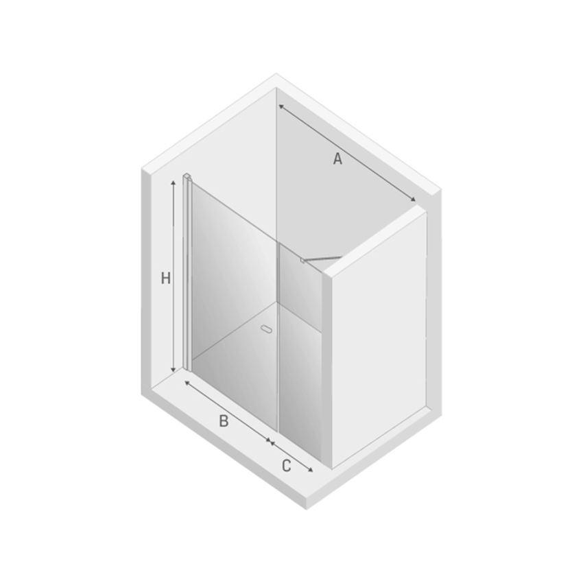 Drzwi prysznicowe wspornik skośny New Trendy New Soleo