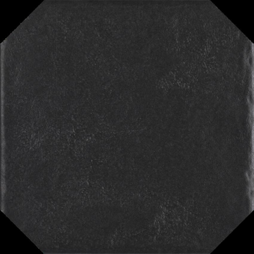 Płytka ścienno-podłogowa 19,8x19,8 cm Paradyż Modern Nero Gres Szklany Struktura Octagon