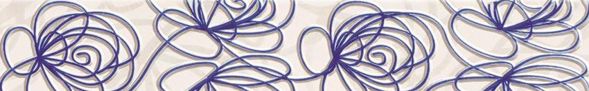 Listwa ścienna 44,8x7,1 cm Tubądzin Wave Modern violet