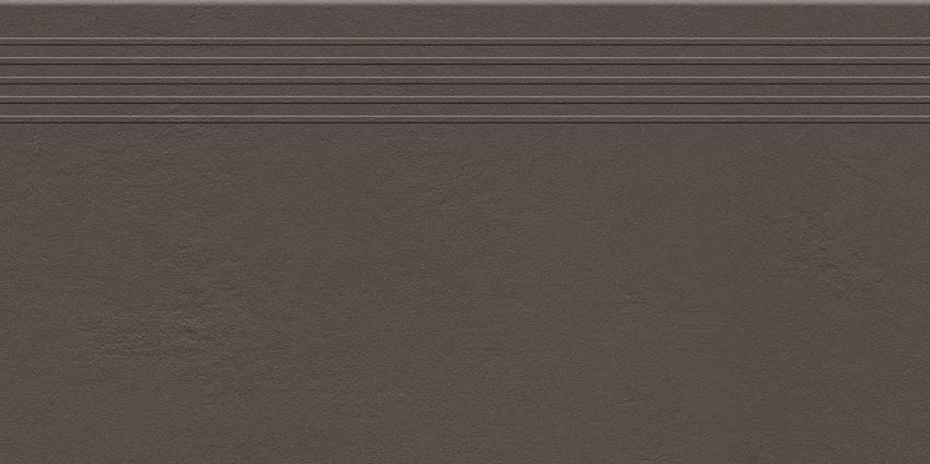 Płytka stopnicowa Tubądzin Industrio Dark Brown (RAL D2/060 4005)