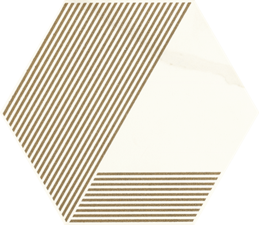 Dekoracja podłogowa Paradyż Calacatta Hexagon Mat. A