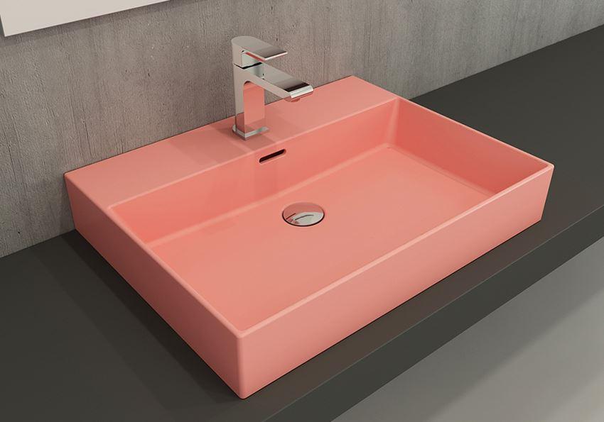 Umywalka meblowa/nablatowa/wisząca 60 cm Matte Salmon Bocchi Milano