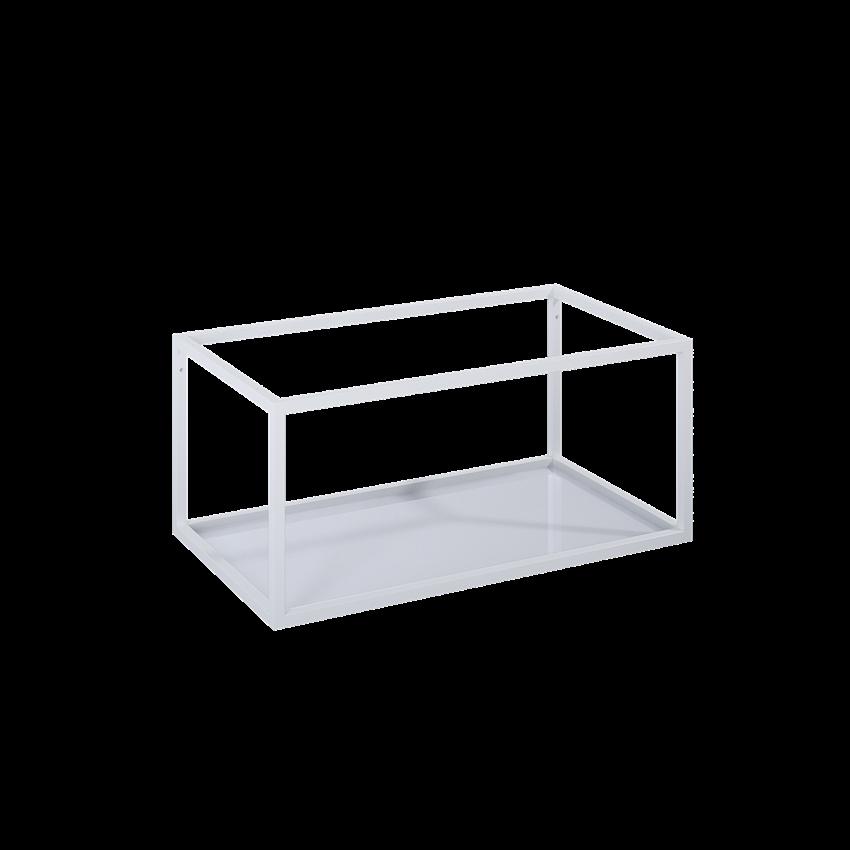 Stelaż podszafkowy z półką szklaną 80 cm Elita Look White Matt