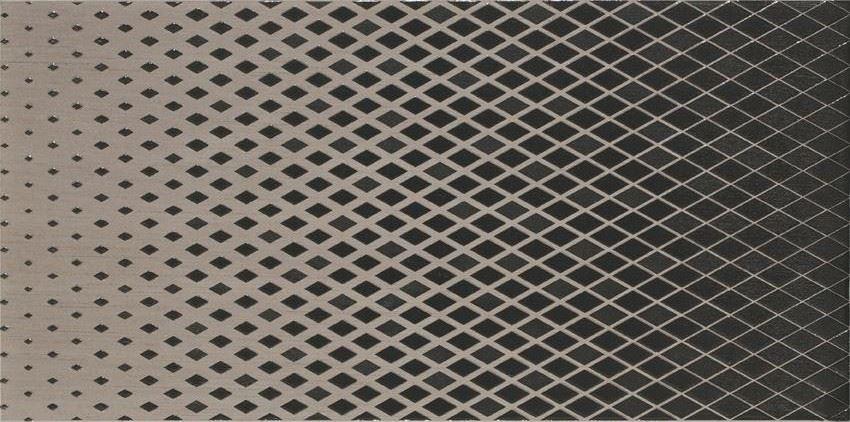 Płytka dekoracyjna 29,7x59,8 cm Cersanit Syrio brown inserto