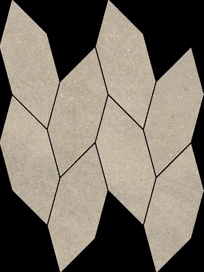 Mozaika 22,3x29,8 cm Paradyż Smoothstone Bianco Mozaika Cięta Satyna
