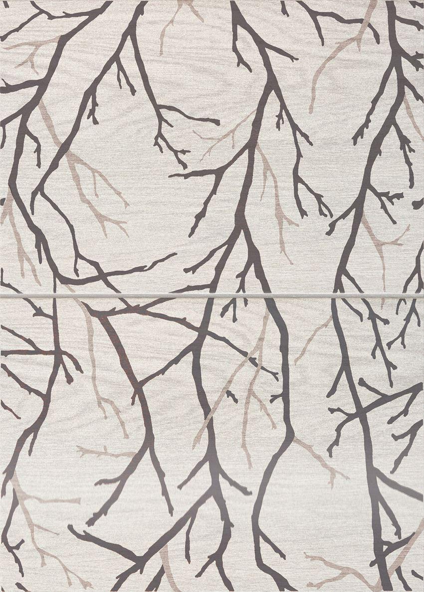 Dekor ścienny 2-elementowy 2*36x25 cm Domino Inverno Tree