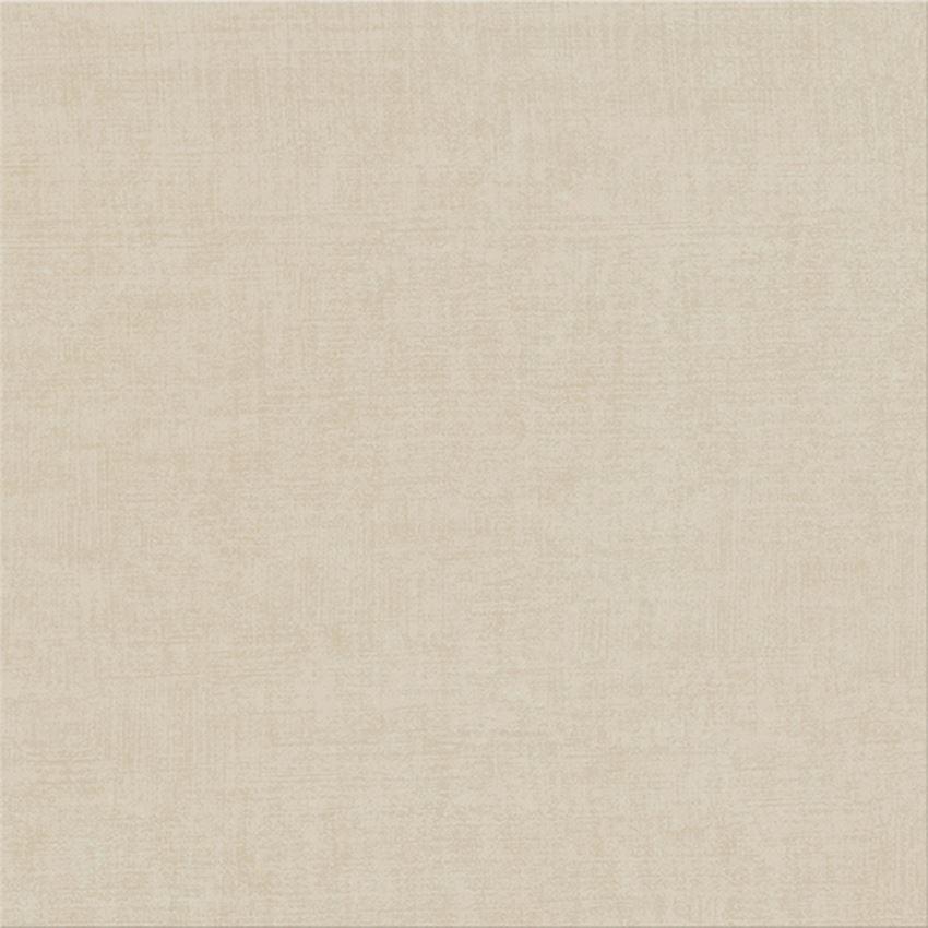 Płytka podłogowa 42x42 cm Cersanit Shiny Textile G440 beige satin