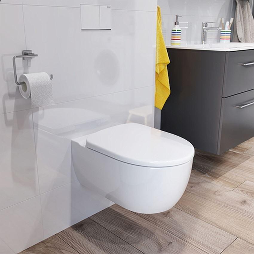 425982020 Bathroom ModoZestaw Miska WC z deską 53x35,5 cm Koło Modo