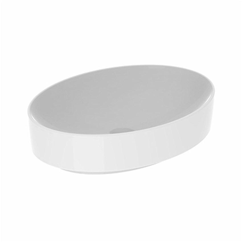 Umywalka stawiana na blat 55x40 cm owalna bez otworu i przelewu Koło VariForm