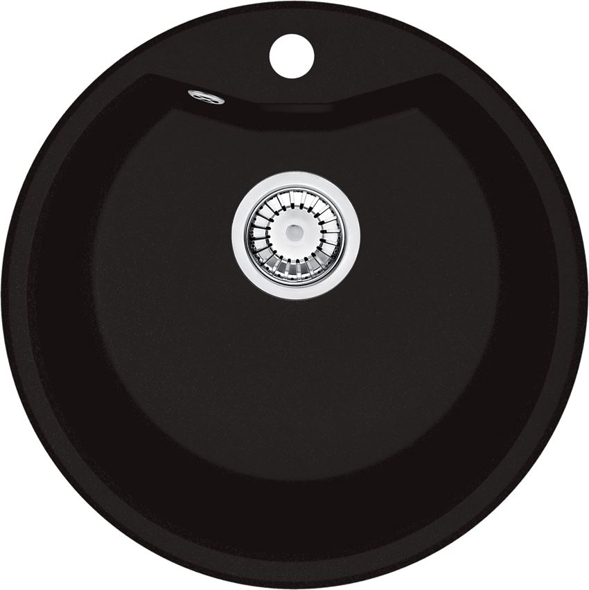 Zlewozmywak 1-komorowy bez ociekacza czarny Deante Solis