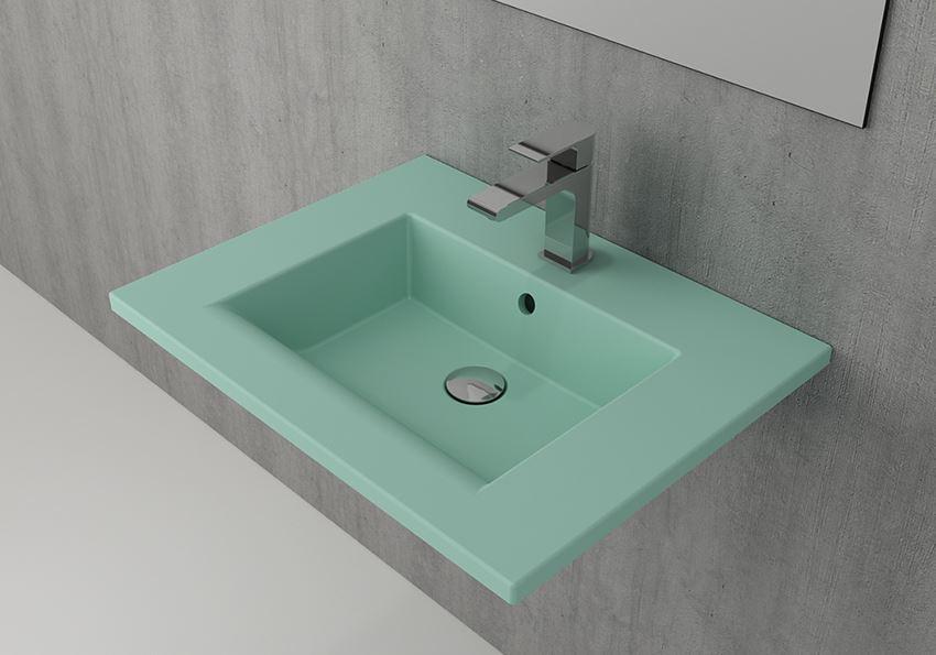 Umywalka ścienna/meblowa/nablatowa 60 cm Matte Mint Green Bocchi Milano