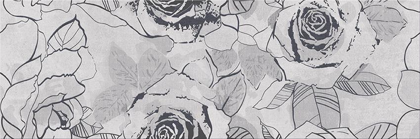 Płytka dekoracyjna 29,7x60 cmCersanit Snowdrops inserto flower