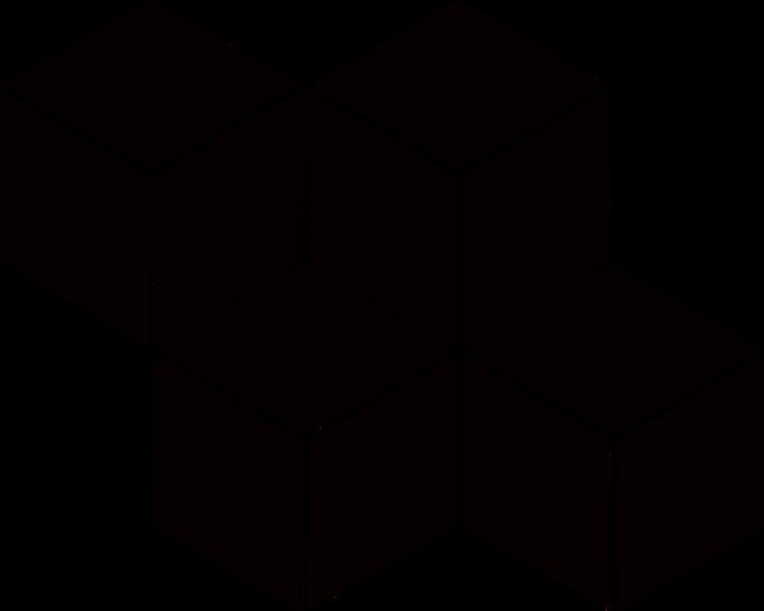 Uniwersalna Mozaika Prasowana Nero Paradyż Romb Hexagon
