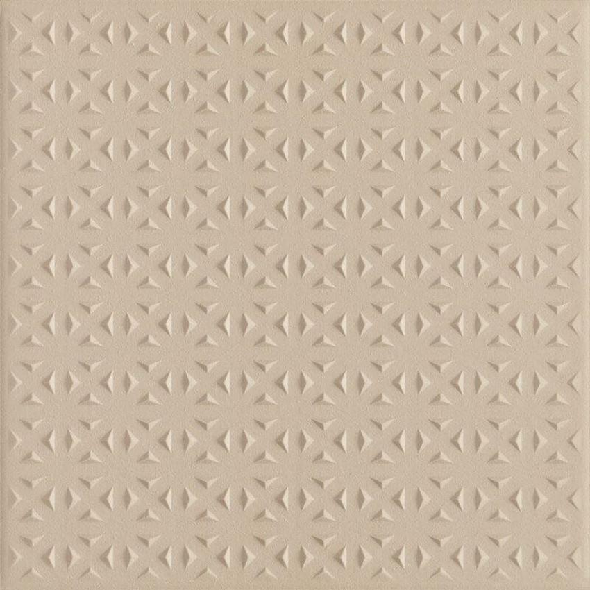 Płytka ścienno-podłogowa 19,8x19,8 cm Paradyż Bazo Beige Gres Monokolor Struktura