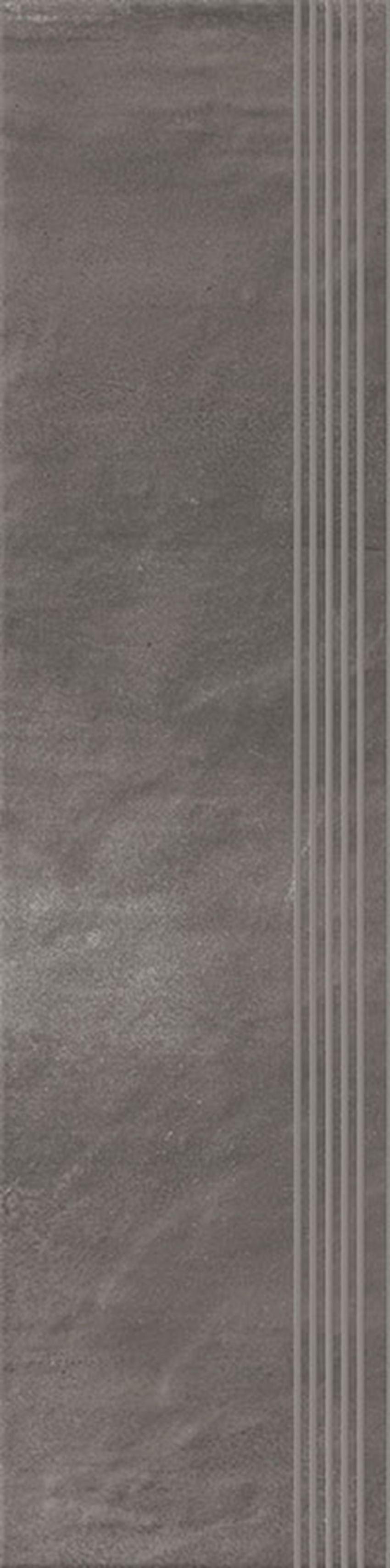 Płytka stopnicowa 29,8x119,8 cm Paradyż Hybrid Stone Grafit Stopnica Prosta Nacinana