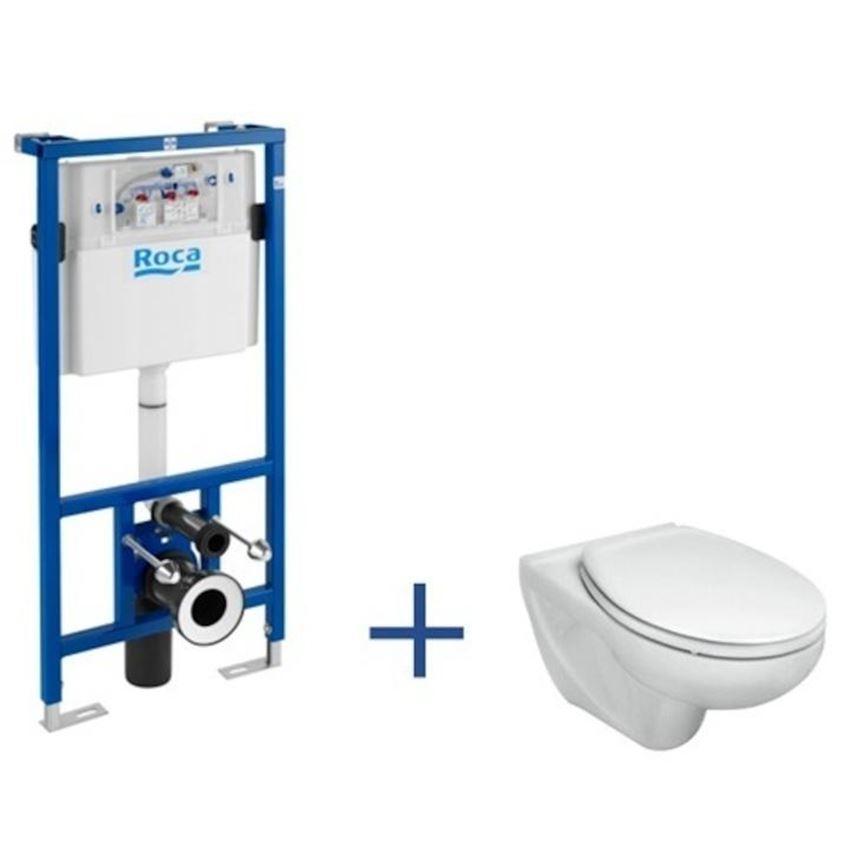 Zestaw podtynkowy z podwieszaną miska WC Roca Victoria