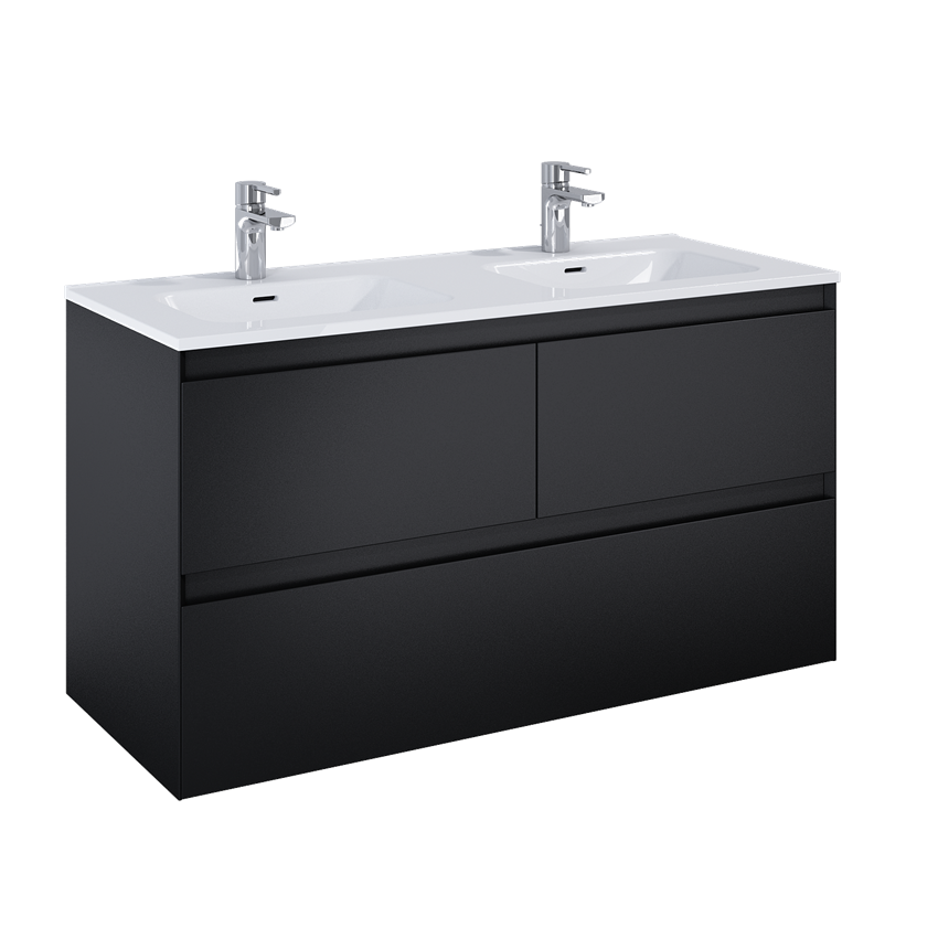 Szafka podumywalkowa 120 cm Elita Split 3S Black Matt